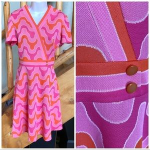 Vintage Day Glow Neon 1960s Dress - Psychedelic